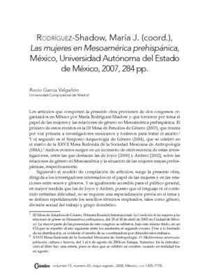 Las mujeres en Mesoamérica prehispánica