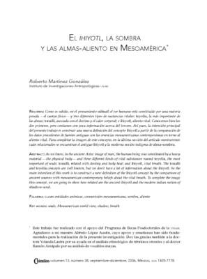 El Ihiyotl, la sombra y las almas-aliento en Mesoamérica