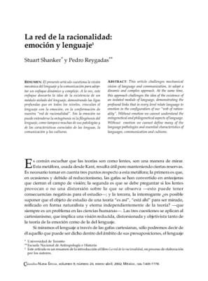 La red de la racionalidad: emoción y lenguaje