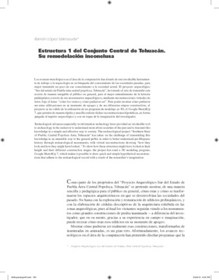Estructura 1 del Conjunto Central de Tehuacán.
