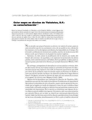 Color negro en dientes de Tlatelolco, D.F.: su caracterización