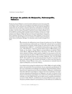 El juego de pelota de Malpasito, Huimanguillo, Tabasco