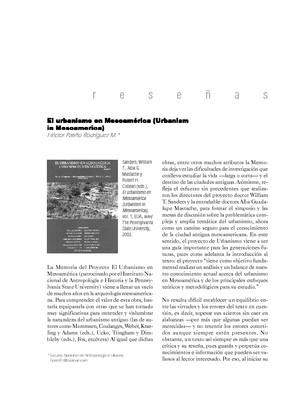 El urbanismo en Mesoamérica (Urbanism in Mesoamerica)