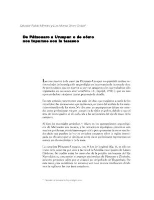 De Pátzcuaro a Uruapan o de cómo nos topamos con lo tarasco