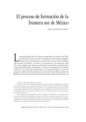 El proceso de formación de la frontera sur de México