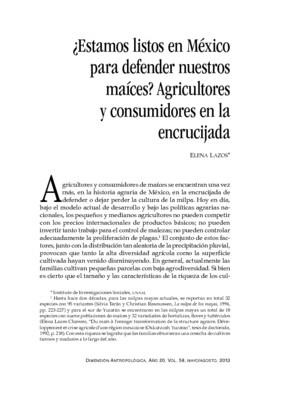 ¿Estamos listos en México para defender nuestros maíces? Agricultores y consumidores en la encrucijada