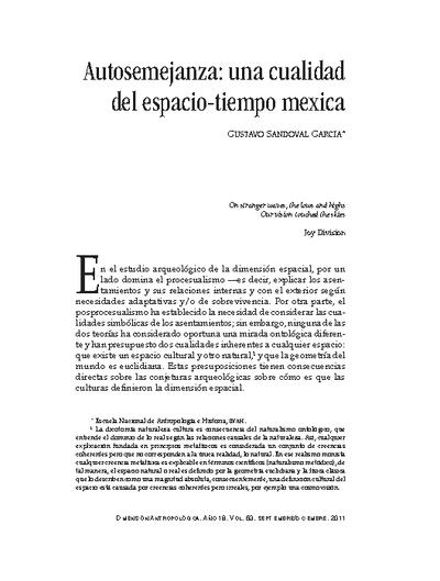 Autosemejanza: una cualidad del espacio-tiempo mexica