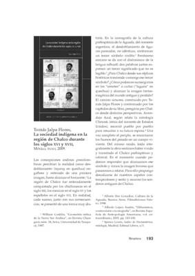 Tomás Jalpa Flores, La sociedad indígena en la región de Chalco  durante los siglos XVI y XVII, México, INAH, 2009.