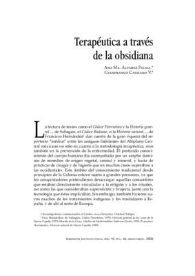 Terapéutica a través de la obsidiana