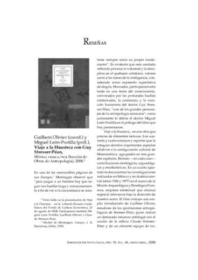 Guilhem Olivier (coord.) y Miguel León-Portilla (pról.), Viaje a la Huasteca con Guy Stresser-Péan, México, CEMCA/FCE (Sección de Obras de Antropología), 2008.