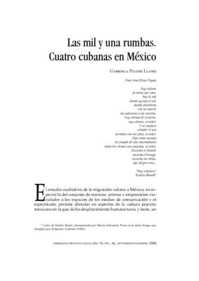 Las mil y una rumbas. Cuatro cubanas en México