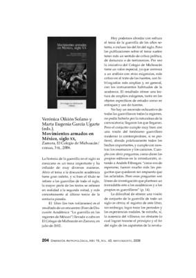Verónica Oikión Solano y Marta Eugenia García Ugarte (eds.), Movimientos armados en México, siglo XX, Zamora, El Colegio de Michoacán/ CIESAS, 3 tt., 2006.