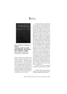 Mary B. Moser y Stephen A. Marlett Comcáac quih Yaza quih Hant Ihíip hac. Diccionario Seri – Español – Inglés Hermosillo, Universidad de Sonora/Plaza y Valdés, 2005