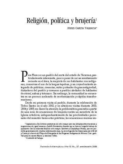 Religión, política y brujería