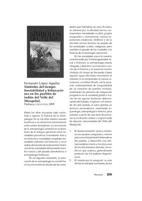 Fernando López Aguilar, Símbolos del tiempo. Inestabilidad y bifurcaciones en los pueblos de indios del Valle del Mezquital, Pachuca, CECULTAH, 2005.