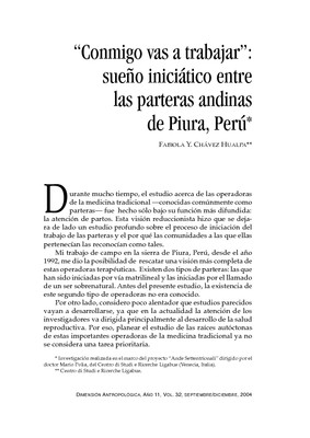 """""""Conmigo vas a trabajar"""": sueño iniciático entre las parteras andinas de Piura, Perú"""