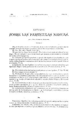 Estudio sobre las partículas nahuas.