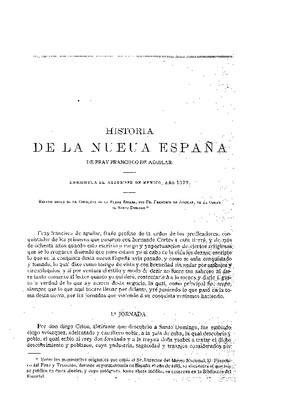 Historia de la Nueva España (1579).