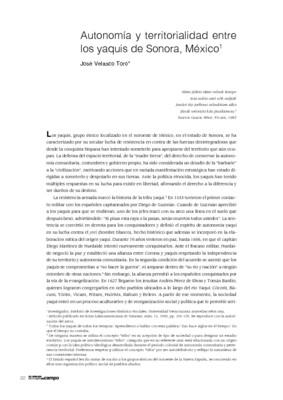 Autonomía y territorialidad entre los yaquis de Sonora, México