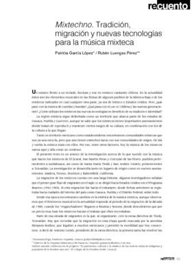 Mixtechno. Tradición, migración y nuevas tecnologías para la música mixteca