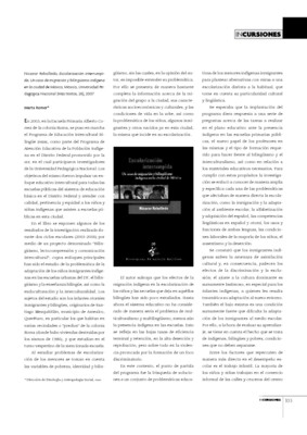 Nicanor Rebolledo, Escolarización interrumpida. Un caso de migración y bilingüismo indígena en la Ciudad de México, México, Universidad Pedagógica Nacional (Más textos, 26), 2007