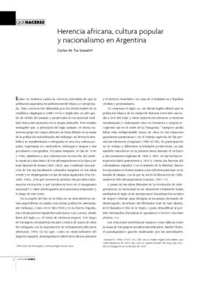 Herencia africana, cultura popular y nacionalismo en Argentina
