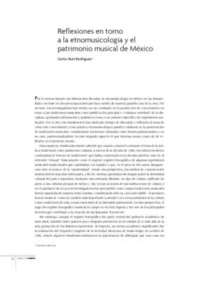 Reflexiones en torno a la etnomusicología y el patrimonio musical de México