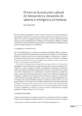 El maíz en la evolución cultural de Mesoamérica: desarrollo de saberes e inteligencia alimentaria