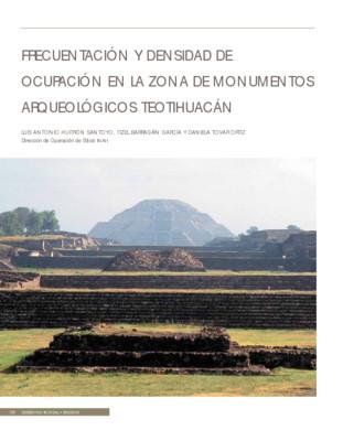 Frecuentación y densidad de ocupación en la Zona de Monumentos Arqueológicos Teotihuacán
