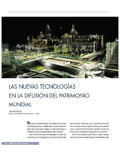 Las nuevas tecnologías en la difusión del Patrimonio Mundial