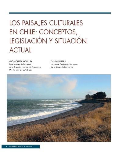 LOS PAISAJES CULTURALES EN CHILE: CONCEPTOS, LEGISLACIÓN Y SITUACIÓN ACTUAL
