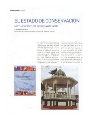 El estado de conservación. Sitios mexicanos del patrimonio mundial