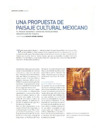 Una propuesta de paisaje cultural mexicano. El paisaje agavero y antiguas instalaciones industriales de tequila