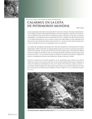 Calakmul en la lista de patrimonio mundial