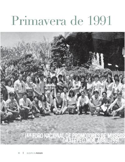 Primavera de 1991. La nueva museología en Oaxtepec, Morelos