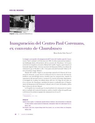 Inauguración del Centro Paul Coremans, ex convento de Churubusco
