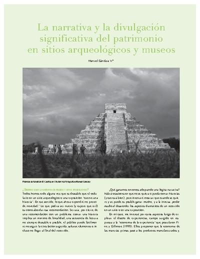 La narrativa y la divulgación  significativa del patrimonio en sitios arqueológicos y museos