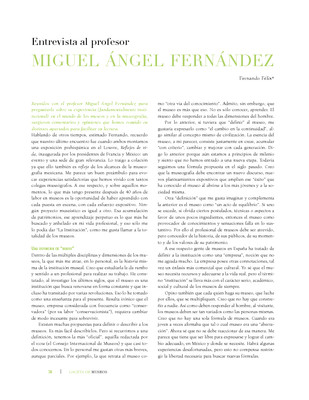 Entrevista al profesor Miguel Ángel Fernández