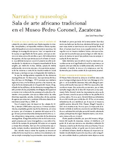 Narrativa y museología Sala de arte africano tradicional en el Museo Pedro Coronel, Zacatecas
