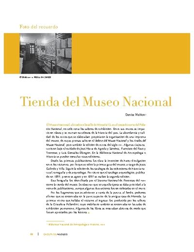 Tienda del Museo Nacional