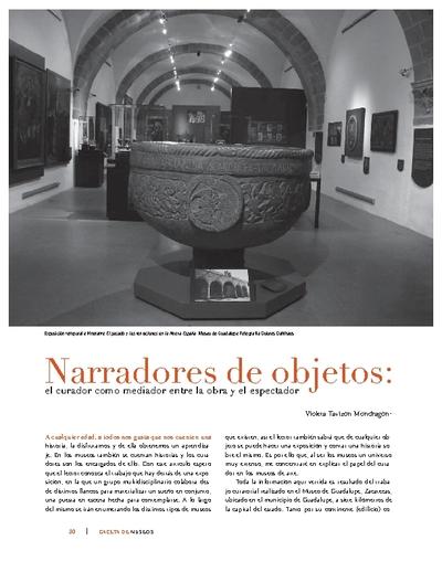 Narradores de objetos: el curador como mediador entre la obra y el espectador