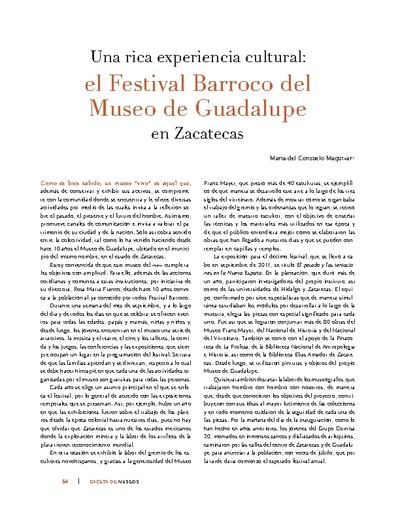 Una rica experiencia cultural: el Festival Barroco del Museo de Guadalupe en Zacatecas