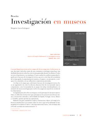 Investigación en museos