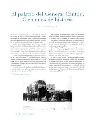 El palacio del General Cantón. Cien años de historia