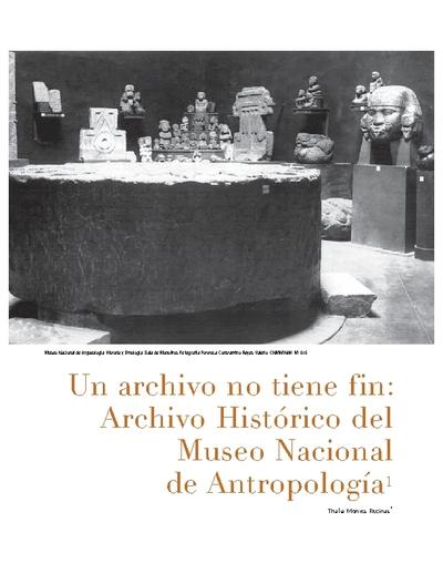 Un archivo no tiene fin: Archivo Histórico del Museo Nacional de Antropología