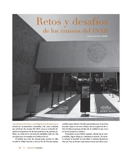 Retos y desafíos de los museos del INAH