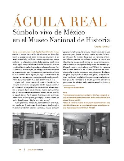 ÁGUILA REAL Símbolo vivo de México en el Museo Nacional de Historia