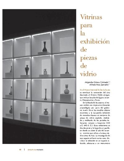 Vitrinas para la exhibición de piezas de vidrio