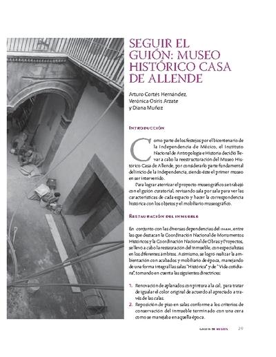 Seguir el guión: Museo Histórico Casa de Allende