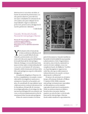 Cuicuilco. Revista de la Escuela Nacional de Antropología e Historia